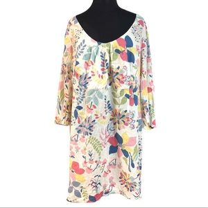 Boden Floral Linen Tunic Dress Size 16